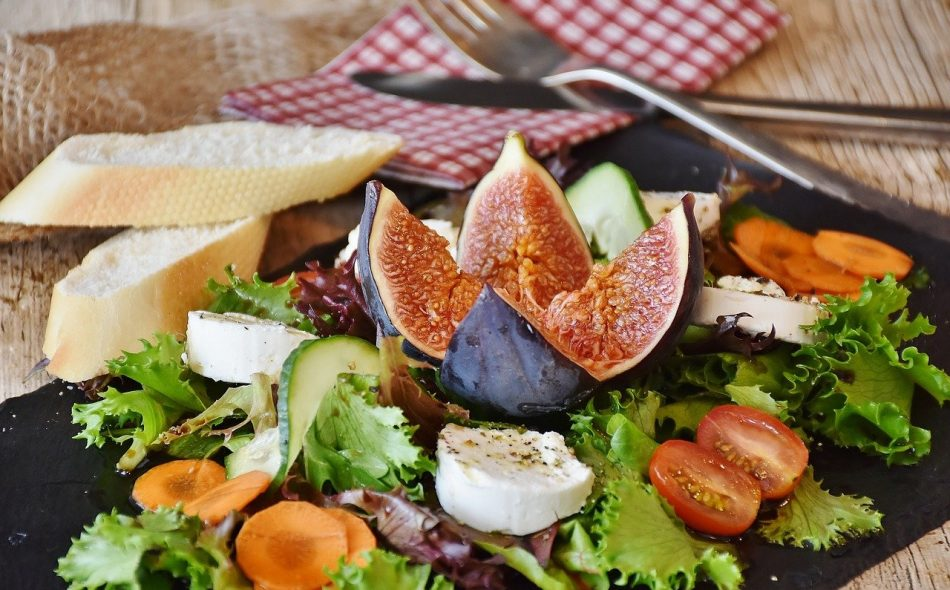 Salad Figs Cheese Goat Cheese Appetizer Starter